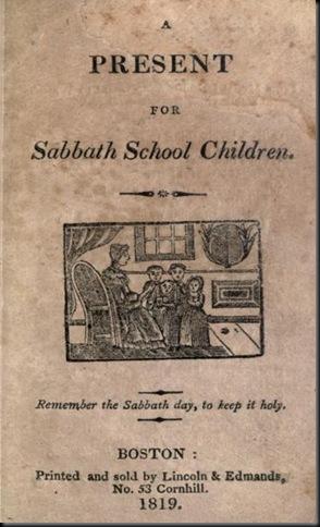 1819 SABBATH BOOK